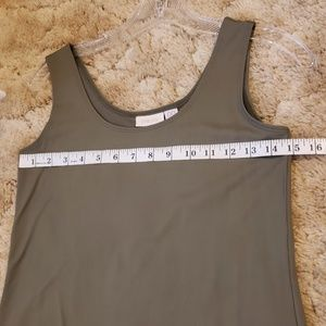 Chico's Tops - Small olive green tank